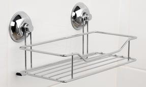 Beldray COMBO-3221 Set of 2 Bathroom Suction Shower Baskets, Chrome Thumbnail 4