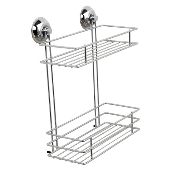 Beldray Bathroom Suction Baskets, Soap Dish, Holders and Towel Ring Collection, Chrome Thumbnail 2