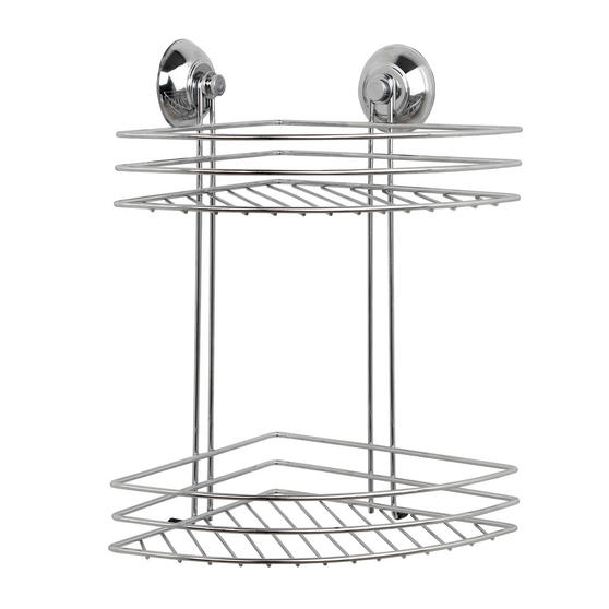 Beldray Bathroom Suction Baskets, Soap Dish, Holders and Towel Ring Collection, Chrome Thumbnail 5