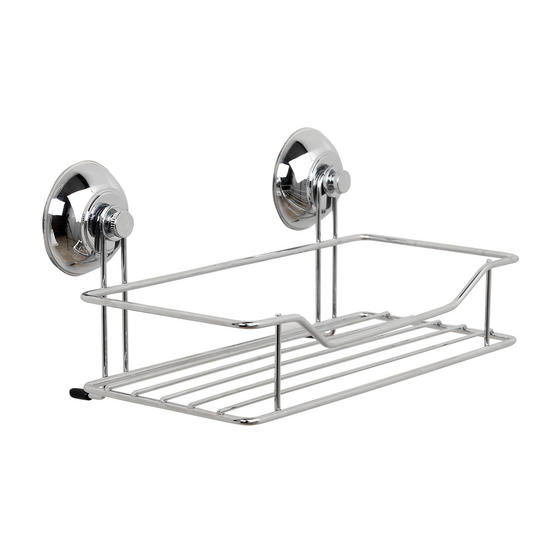 Beldray Bathroom Suction Baskets, Soap Dish, Holders and Towel Ring Collection, Chrome Thumbnail 7