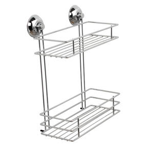Beldray COMBO-3223 Bathroom Suction Baskets, Soap Dish, Holders and Towel Ring Collection, Chrome Thumbnail 2