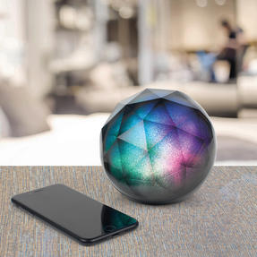 Intempo EE3434GSTKEU Geometric Glitter Ball Bluetooth Speaker with Colourful LED Lights for iPhones, Androids and Other Smart Devices, Superior Sound, 5 W Speaker Output Thumbnail 3