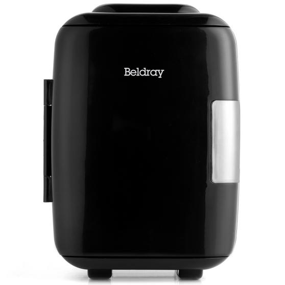 Beldray Portable Mini Fridge with Removable Shelf and Car Adapter, 4 L, 48 W, Black Thumbnail 1