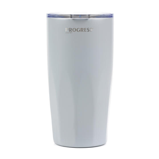 Progress COMBO-3203 Grey Thermal Insulated Travel Cup Tumbler with Lid, 550 ml, Set of 2