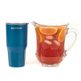 Progress COMBO-3206 Blue Thermal Insulated Travel Cup Dipped Tumbler with Lid, 550 ml, Set of 2 Thumbnail 9