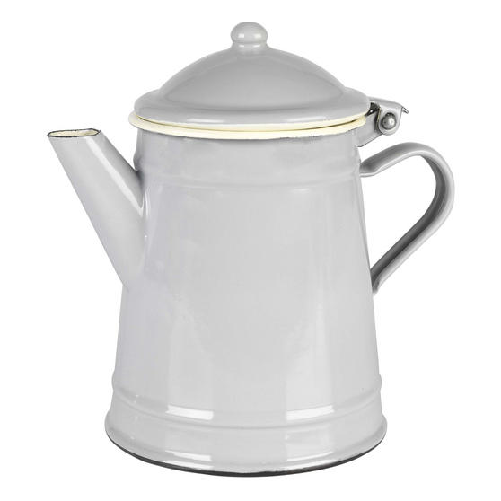 Vintage BW02718GDN Enamel Tea Pot, 12 cm, Grey