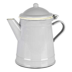 Vintage BW02718GDN Enamel Tea Pot, 12 cm, Grey Thumbnail 1