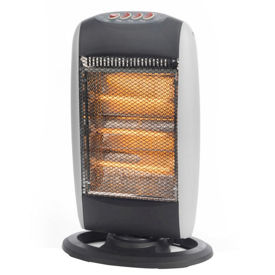 Beldray Portable Halogen Heater, 1200 W, Grey