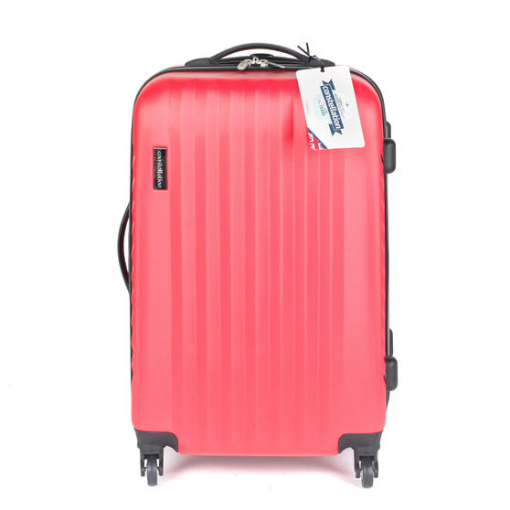"Constellation LG00404MPINKSDMIL Eclipse 4 Wheel Suitcase, 24"", Pink"