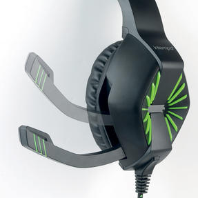 Intempo EE3358 Interactive Gaming Headset Earphones with Microphone, Noise Isolating, for Xbox, PlayStation, PC or TV, Green/Black Thumbnail 3