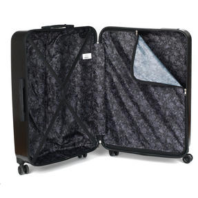 "Constellation Mosaic Effect ABS Hard Shell Small Cabin Approved Suitcase, 20"", Black Thumbnail 3"