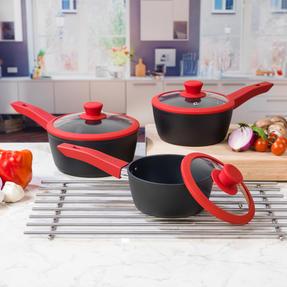 Progress COMBO-2049 Forged Saucepan and Wok Set with Pressed Aluminium Flip Pan Thumbnail 6