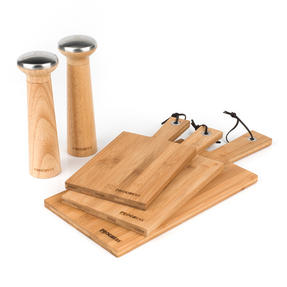 Progress COMBO-3317 Nordic Salt and Pepper Grinder Mills with 3 Piece Wooden Paddle Chopping Boards Thumbnail 2