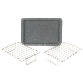 Salter COMBO-3313 Marble Collection Baking Tray with Stainless Steel Cooling and Roasting Racks