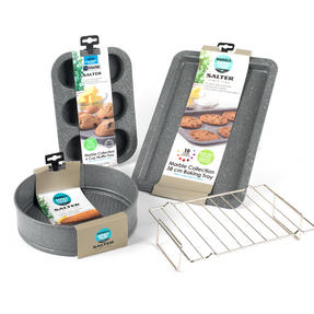 Salter COMBO-3315 Marble Collection Bakeware with 6 Cup Muffin Tray, 24 cm Spring Form Tin, Baking Tray and Cooling Racks Thumbnail 7