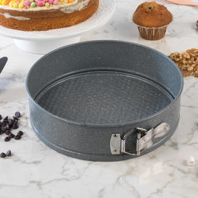 Salter COMBO-3316 Marble Collection Bakeware with  6 Cup Muffin Tray, Baking Tray, Spring Form Pan, Round Tray and Loaf Pan Thumbnail 6