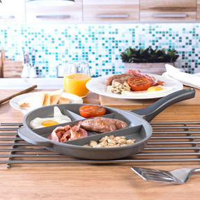Salter COMBO-3326 Marble Collection Multi Portion Control Non-Stick Pan with Griddle Pan Thumbnail 5