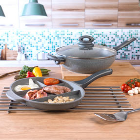 Salter COMBO-3327 Marble Collection Multi Portion Control Non-Stick Pan with Wok Thumbnail 4