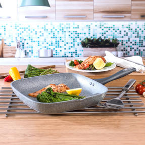 Salter COMBO-3328 Marble Collection Multi Portion Control Non-Stick Pan with Wok and Griddle Pan Thumbnail 7