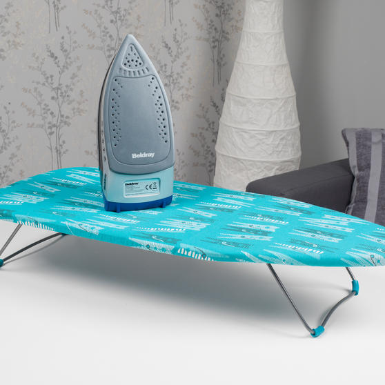 Beldray Max Steam Pro 3000 W Iron with Table Top Peg Print Ironing Board Thumbnail 3