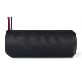 Intempo EE2678BLKSTK Fabric Bluetooth Rechargeable Desktop Speaker for iPhone, iPad, Samsung Galaxy, Android and other Smart USB Devices, 16.3 x 6.3cm, Black