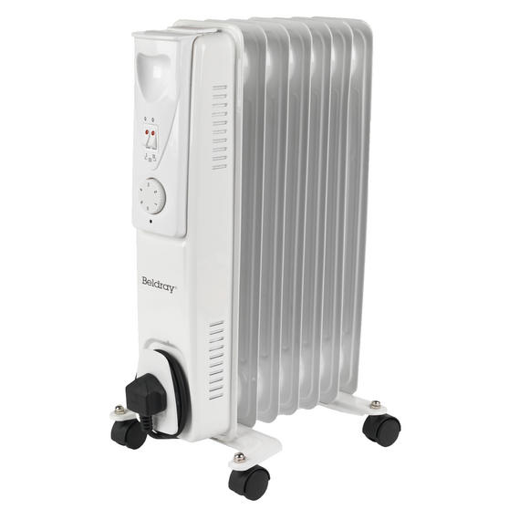 Beldray EH0564SSTK 7 Fin Oil Radiator, 3 Heat Settings, 1500 W