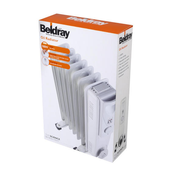 Beldray 7 Fin Oil Radiator, 3 Heat Settings, 1500 W Thumbnail 5