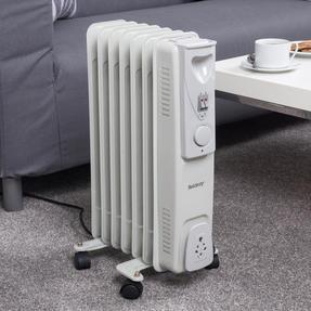 Beldray EH0564SSTK 7 Fin Oil Radiator, 3 Heat Settings, 1500 W Thumbnail 2