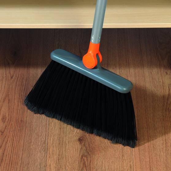 Beldray Long Handled 180° Multi Angle Broom w/ Adjustable Floor Brush Head, Orange Thumbnail 3