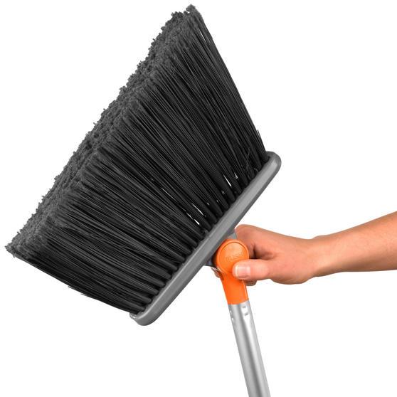 Beldray Long Handled 180° Multi Angle Broom w/ Adjustable Floor Brush Head, Orange Thumbnail 2