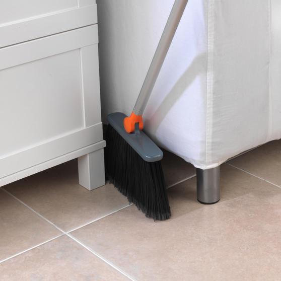 Beldray Long Handled 180° Multi Angle Broom w/ Adjustable Floor Brush Head, Orange Thumbnail 4