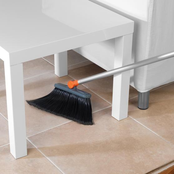 Beldray Long Handled 180° Multi Angle Broom w/ Adjustable Floor Brush Head, Orange Thumbnail 5
