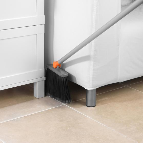 Beldray Long Handled 180° Multi Angle Broom w/ Adjustable Floor Brush Head, Orange Thumbnail 6