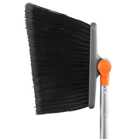 Beldray LA041494OREU Long Handled 180° Multi Angle Broom w/ Adjustable Floor Brush Head, Orange
