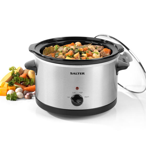Salter EK2625 Non-Stick Slow Cooker with 3 Heat Settings, 5.5 Litre