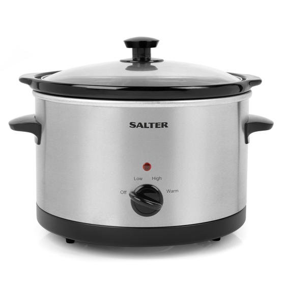 Salter Non-Stick Slow Cooker with 3 Heat Settings, 5.5 Litre