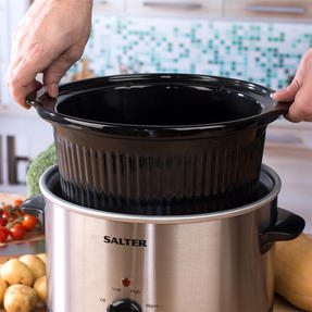 Salter Non-Stick Slow Cooker with 3 Heat Settings, 5.5 Litre Thumbnail 5