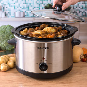 Salter Non-Stick Slow Cooker with 3 Heat Settings, 5.5 Litre Thumbnail 8