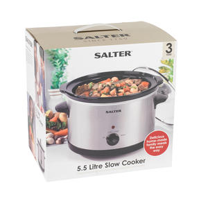 Salter Non-Stick Slow Cooker with 3 Heat Settings, 5.5 Litre Thumbnail 9