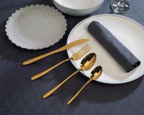 Salter 16-Piece Gold Cutlery Set, Stainless Steel Thumbnail 4