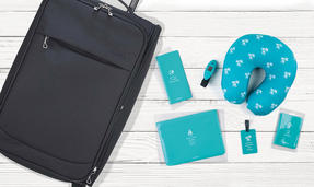 Constellation COMBO-3318 Black Universal Cabin Case with 6 Piece Teal Travel Accessories Thumbnail 3