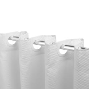 Beldray COMBO-3337 White Waffle Hookless Shower Curtain, 3 Function Massage Shower Head and Stainless Steel Shower Hose Thumbnail 4