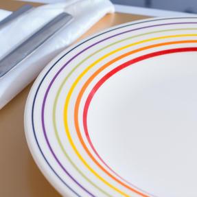 Bugatti COMBO-3329 Large Striped Dinner Plates, 27 cm, Multicolour, Set of 4 Thumbnail 8