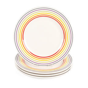 Bugatti COMBO-3330 Striped Side Small Plates, 22 cm, Multicolour, Set of 4 Thumbnail 2