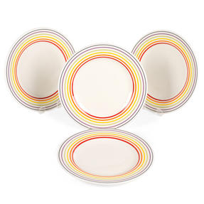 Bugatti COMBO-3330 Striped Side Small Plates, 22 cm, Multicolour, Set of 4 Thumbnail 5
