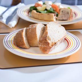 Bugatti COMBO-3331 Large Striped 27 cm Dinner Plates and 22 cm Side Plates, Multicolour, 8 Piece Set Thumbnail 5