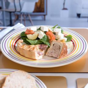 Bugatti COMBO-3331 Large Striped 27 cm Dinner Plates and 22 cm Side Plates, Multicolour, 8 Piece Set Thumbnail 6