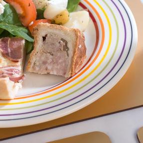 Bugatti COMBO-3351 Large Striped Dinner Plates, 27 cm, Multicolour, Set of 6 Thumbnail 5