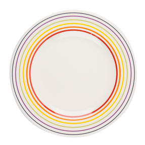 Bugatti COMBO-3352 Large Striped Dinner Plates, 27 cm, Multicolour, Set of 12 Thumbnail 2