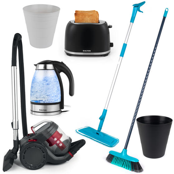 Landlord Box COMBO-3340 Cleaning and Appliances, University Student House, 9 Piece Set